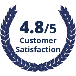 4.8/5 Customer Satisfaction