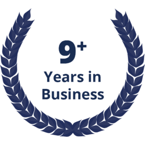9+ Years in Business
