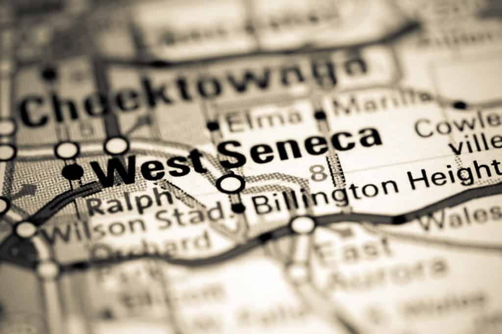 Map of West Seneca, NY and surrounding area