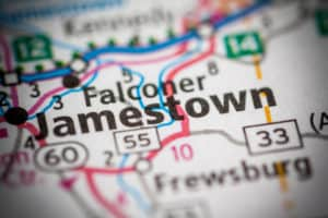 Jamestown NY on map