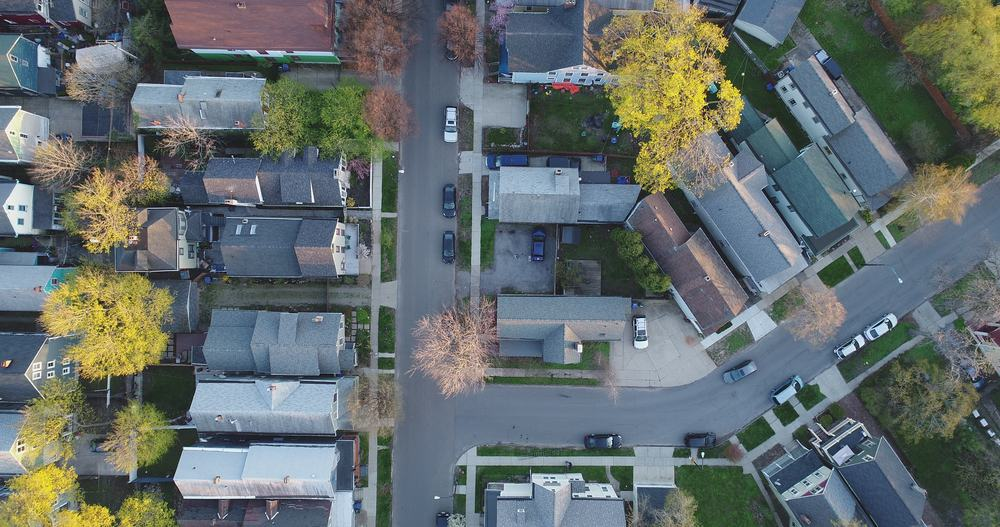 A local neighborhood in Buffalo, NY