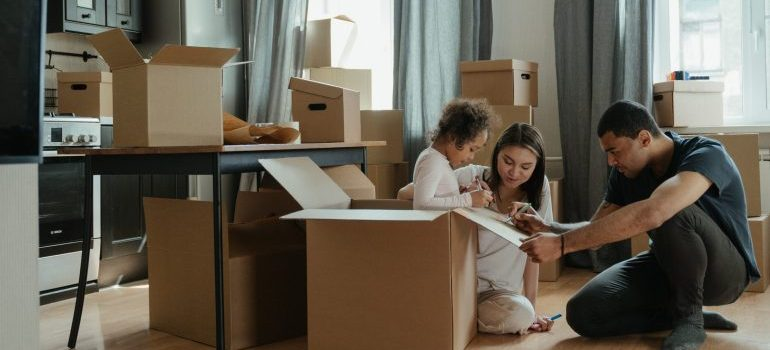A family getting ready for a move.
