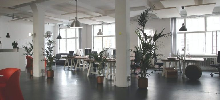 Empty office space without employees.