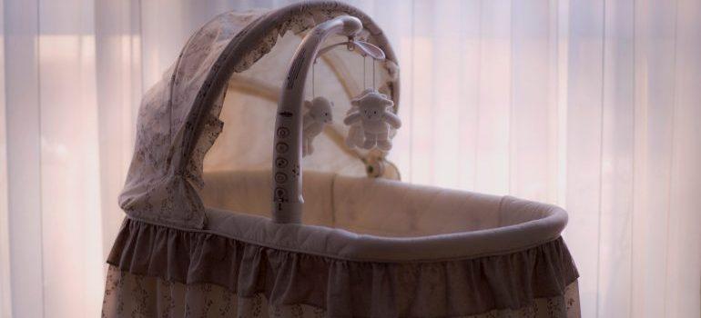 a baby crib